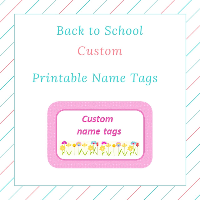 Back to school: custom (girl) printable name tags
