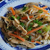 Seared Bean Sprouts With Orange Zest, Chicken And Bok Choy Recipe