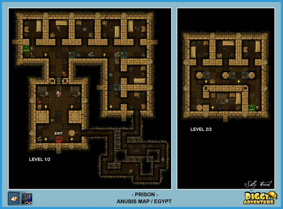 Diggy's Adventure Walkthrough: Anubis Egypt Quests / Prison