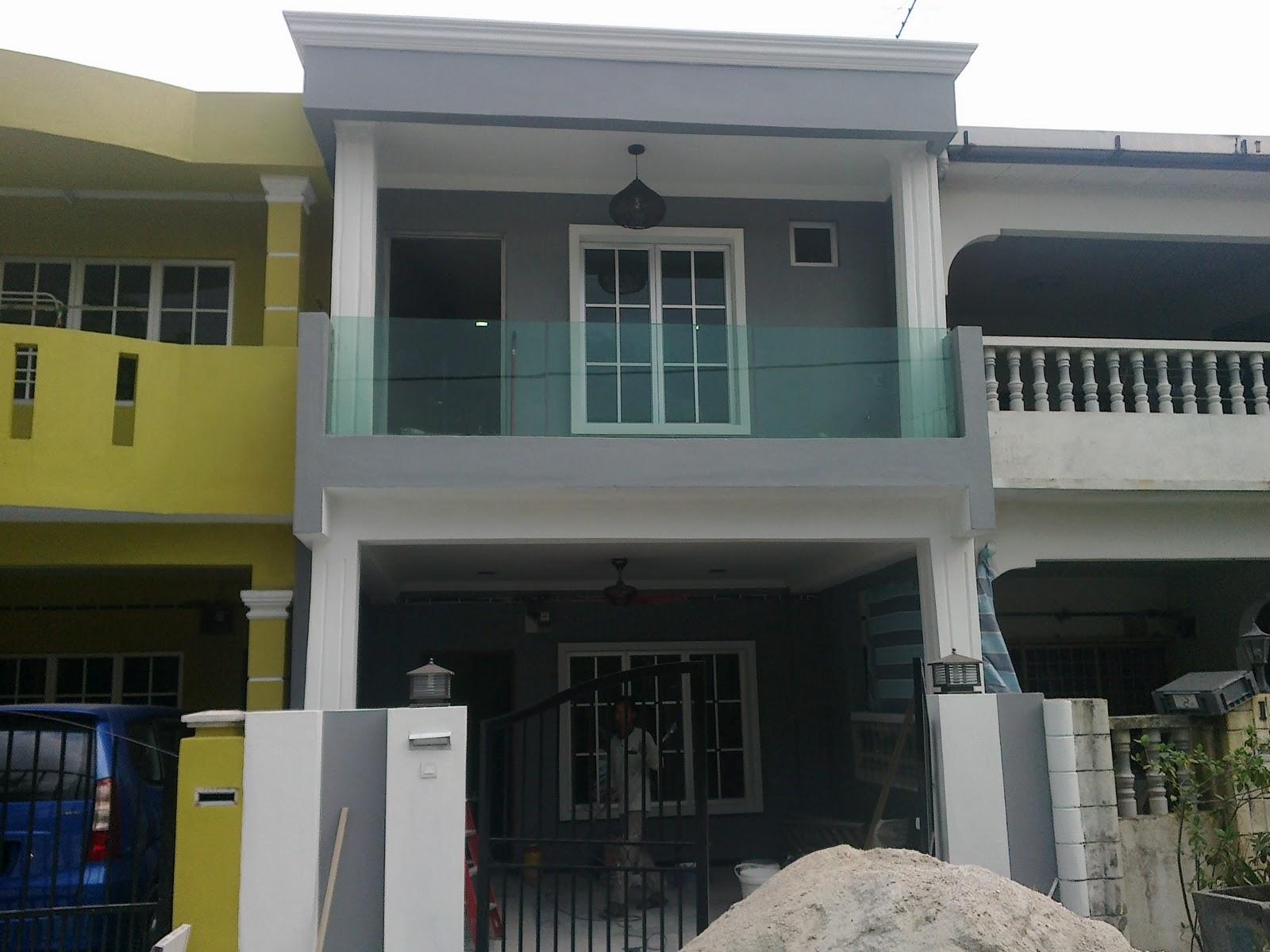 Reesha Home Renovation Penambahan Bahagian Depan Dan Atas & Ubahsuai Rumah Teres 2 Tingkat | Desainrumahid.com