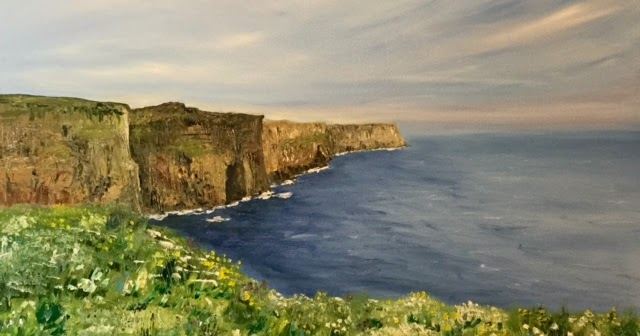 ... Chasse Fine Art: Wedding Gift - Cliffs Of Moher, Ireland, Oil Painting