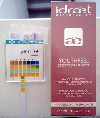 pH de Renovador Youthpeel de Idraet