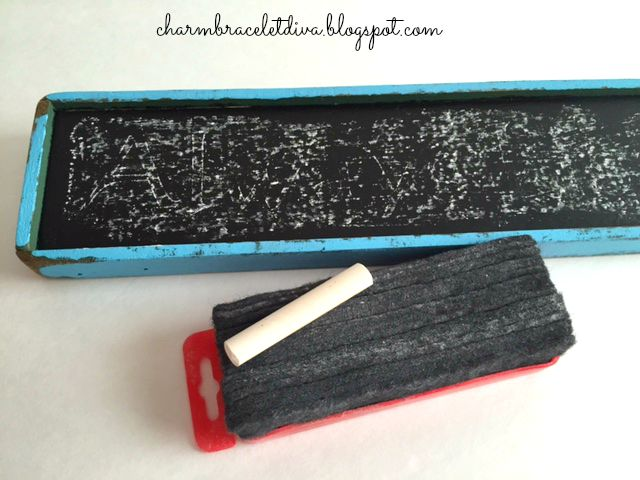 DIY painted chalkboard and chalk with eraser