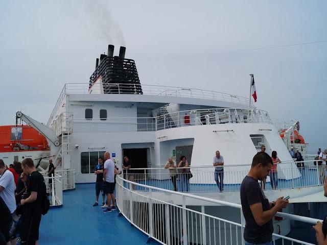 ferry Calais a Dover, paso canal de la Mancha