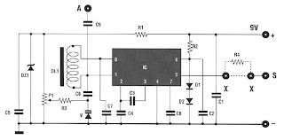 OM MICRO RECEIVER TUNING DIODE VARICAP circuit schematic