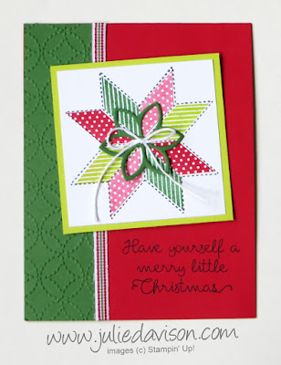 Stampin' Up! Christmas Quilt Card  Julie Davison www.juliedavison.com/clubs ~ 2017 Holiday Catalog