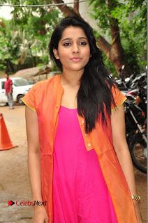 Actress Rashmi Gautam Pictures in Pink Salwar Kameez at Akshara Kalasam Event  0010.JPG
