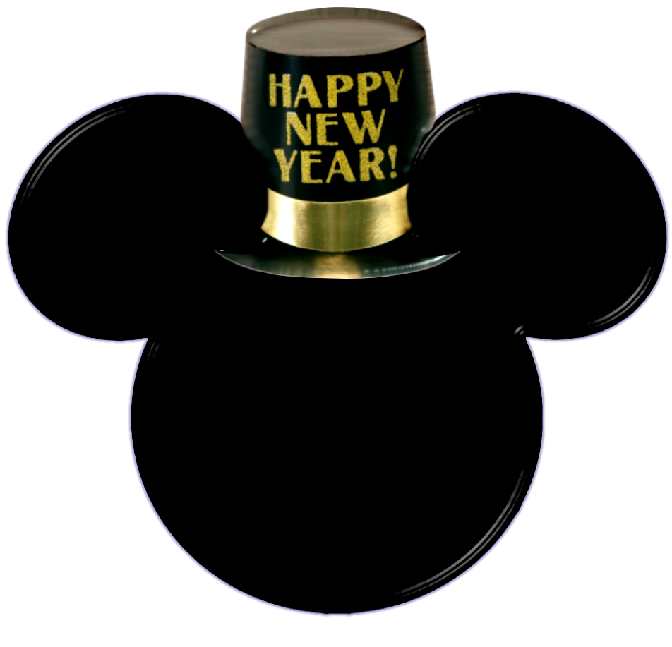 Mickey Heads for New Years Party.