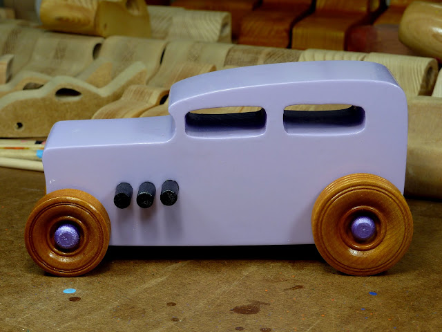 Wooden Toy Car - Hot Rod Freaky Ford - 32 Sedan  Left Side