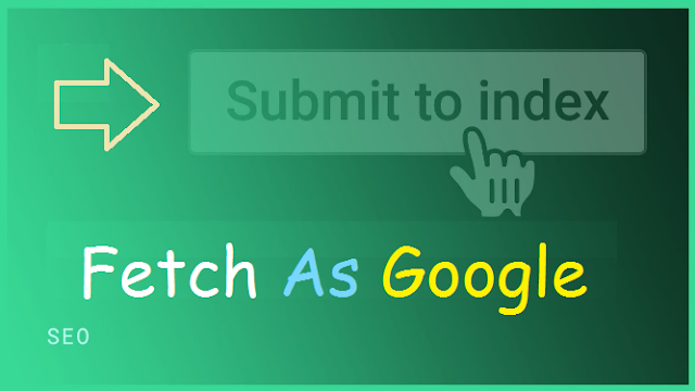 Cara submit artikel di Fetch As Google supaya artikel cepat terindex