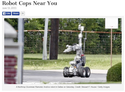 Dallas P.D. - robot used to kill armed suspect July 8, 2016