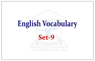 English Vocabulary Set-9 (with meaning and example)