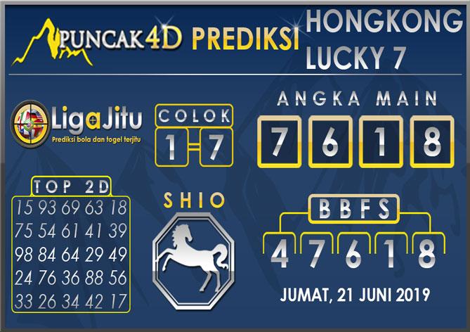 PREDIKSI TOGEL HONGKONG LUCKY7 PUNCAK4D 21 JUNI 2019