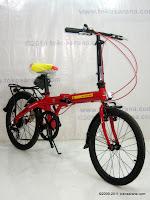 3 Sepeda Lipat Fold-X X-One Soccer Spain La Furia Roja