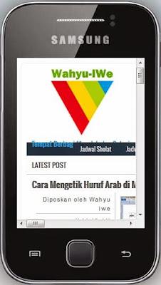 Melihat Blog Versi Mobile di Komputer