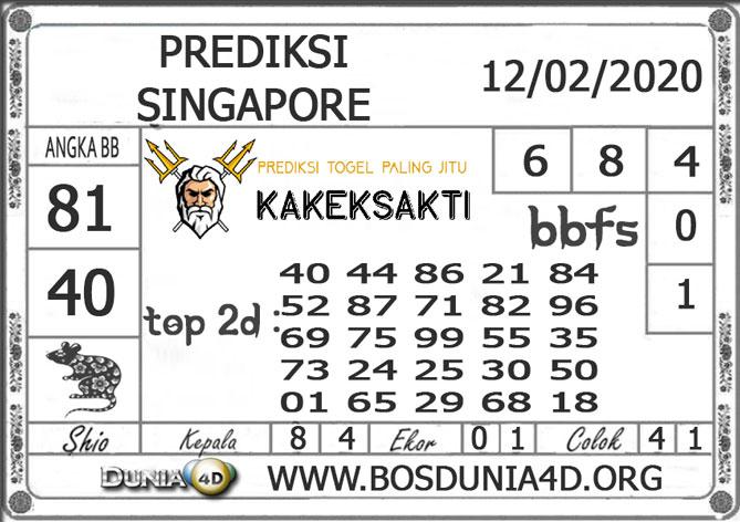 PREDIKSI TOGEL SINGAPORE DUNIA4D 12 FEBRUARI 2020