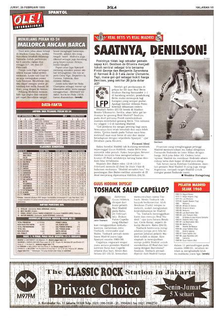 REAL BETIS VS REAL MADRID SAATNYA, DENILSON