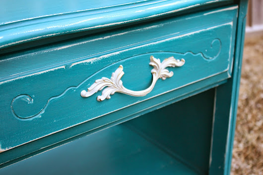 Teal French Provincial