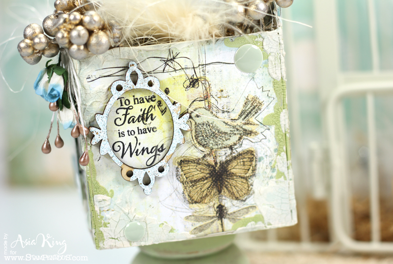 Stampendous Angel Wings Quotes wooden frame Frantage
