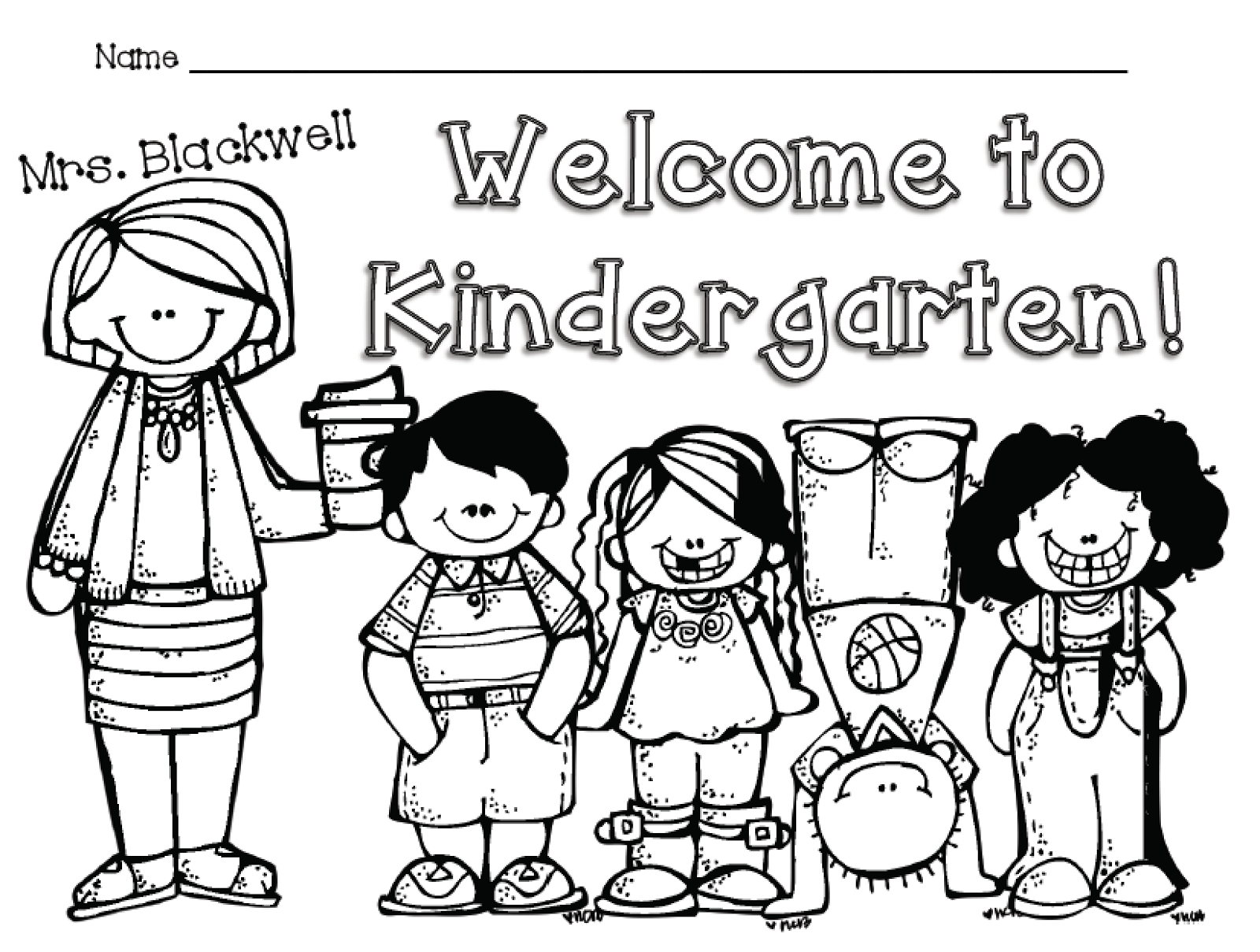 Welcome Kindergarten Coloring Worksheets Free Printable