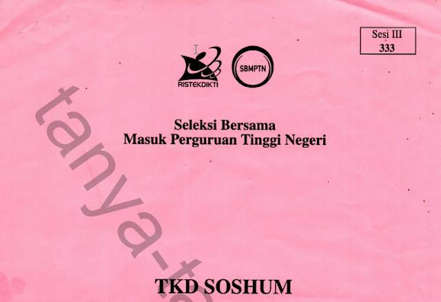 Kumpulan Soal SBMPTN Soshum Asli dari Tahun 2010 - 2018