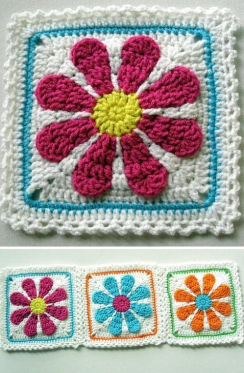 Gerber Daisy Afghan - Crochet pattern
