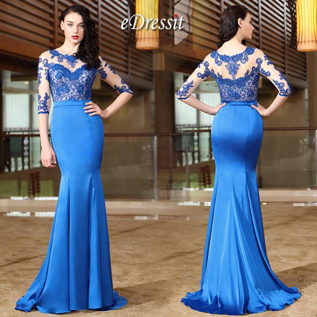 Nouvelle Robe de Soirée Bleue e8969652cf28