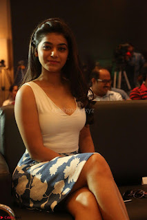 Yamini in Short Mini Skirt and Crop Sleeveless White Top 055.JPG