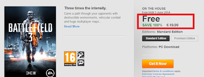أحصل على لعبة Battlefield 3 مجانا على حاسوبك وبطريقة قانونية %100