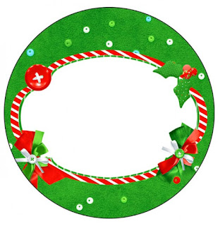 Christmas in Stripes, Toppers or Free Printable Candy Bar Labels.