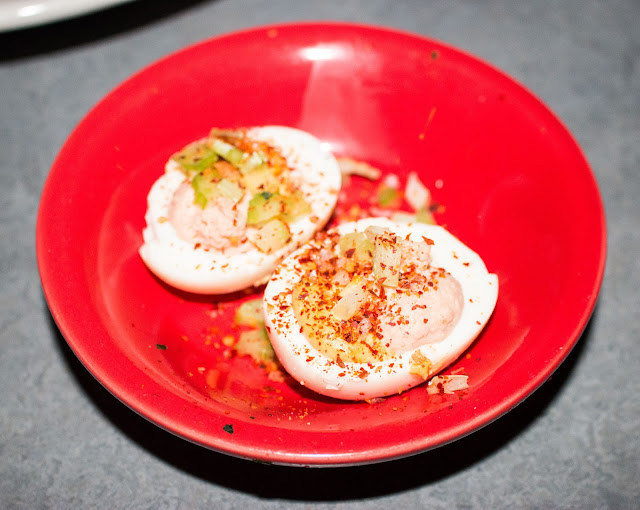 Alla Spina - Buffalo Chicken Deviled Eggs
