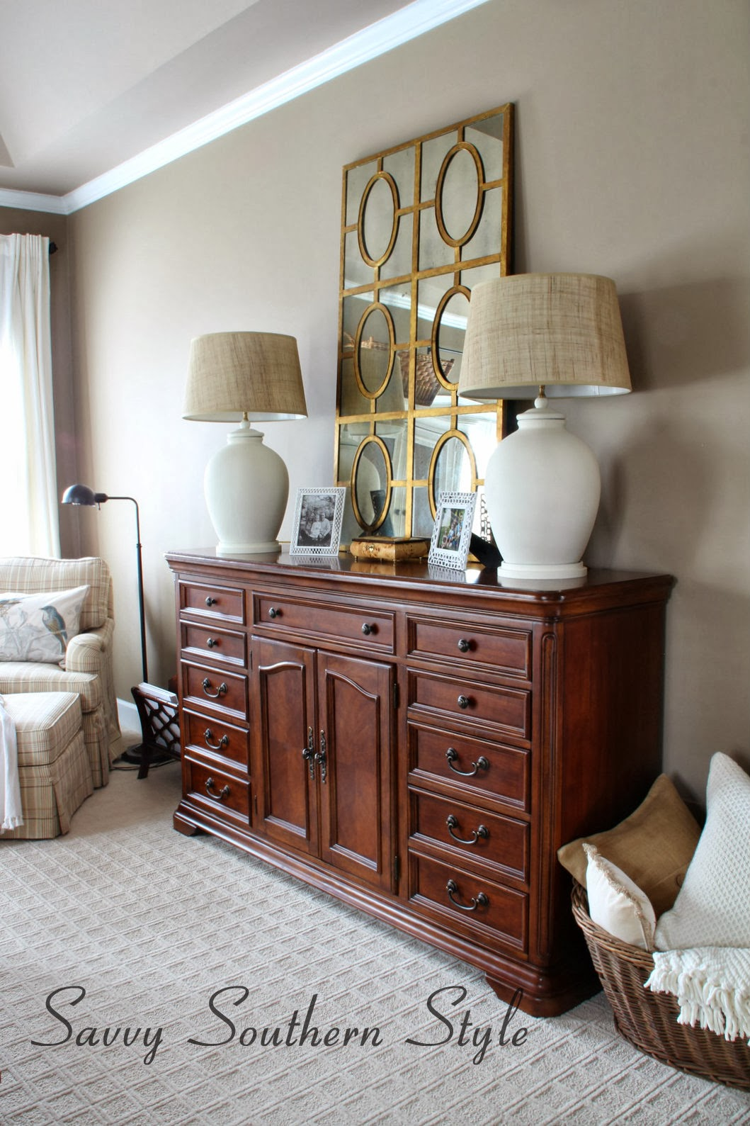 Savvy Southern Style : Master Bedroom Mirror Switch