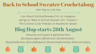 Back to school sweater CAL graphic