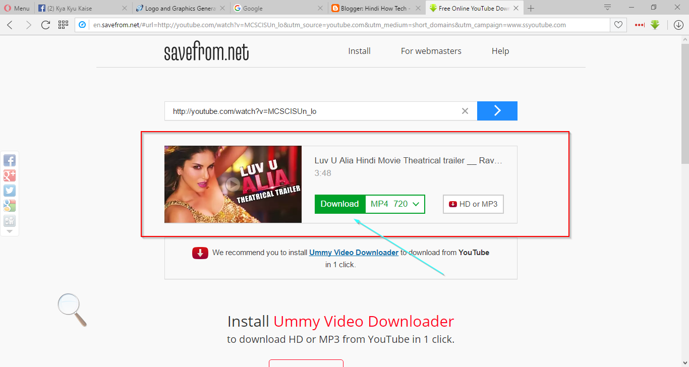 If You Want To Download Your Video In HD Or Normal 3GP So Before Clicking On Go More Option Hare Will See Too Much For