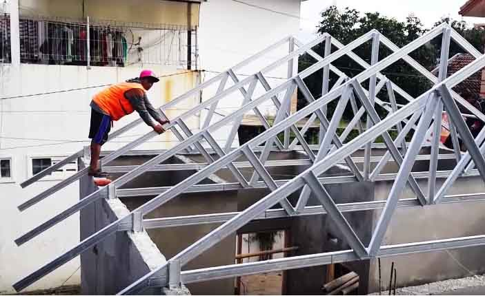 atap baja ringan nganjuk distributor supplier rangka produk