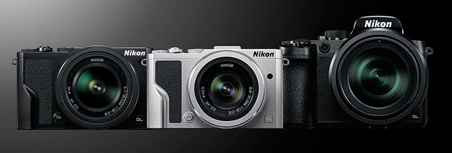 Камеры Nikon DL 18-50, DL 24-85 и DL 24-500