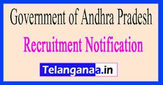 Government of Andhra Pradesh Recruitment Notification 2017
