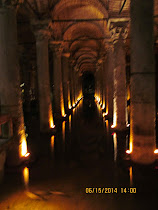 The underground Basilica Cistern, both a reservoir and work of art (Istanbul).