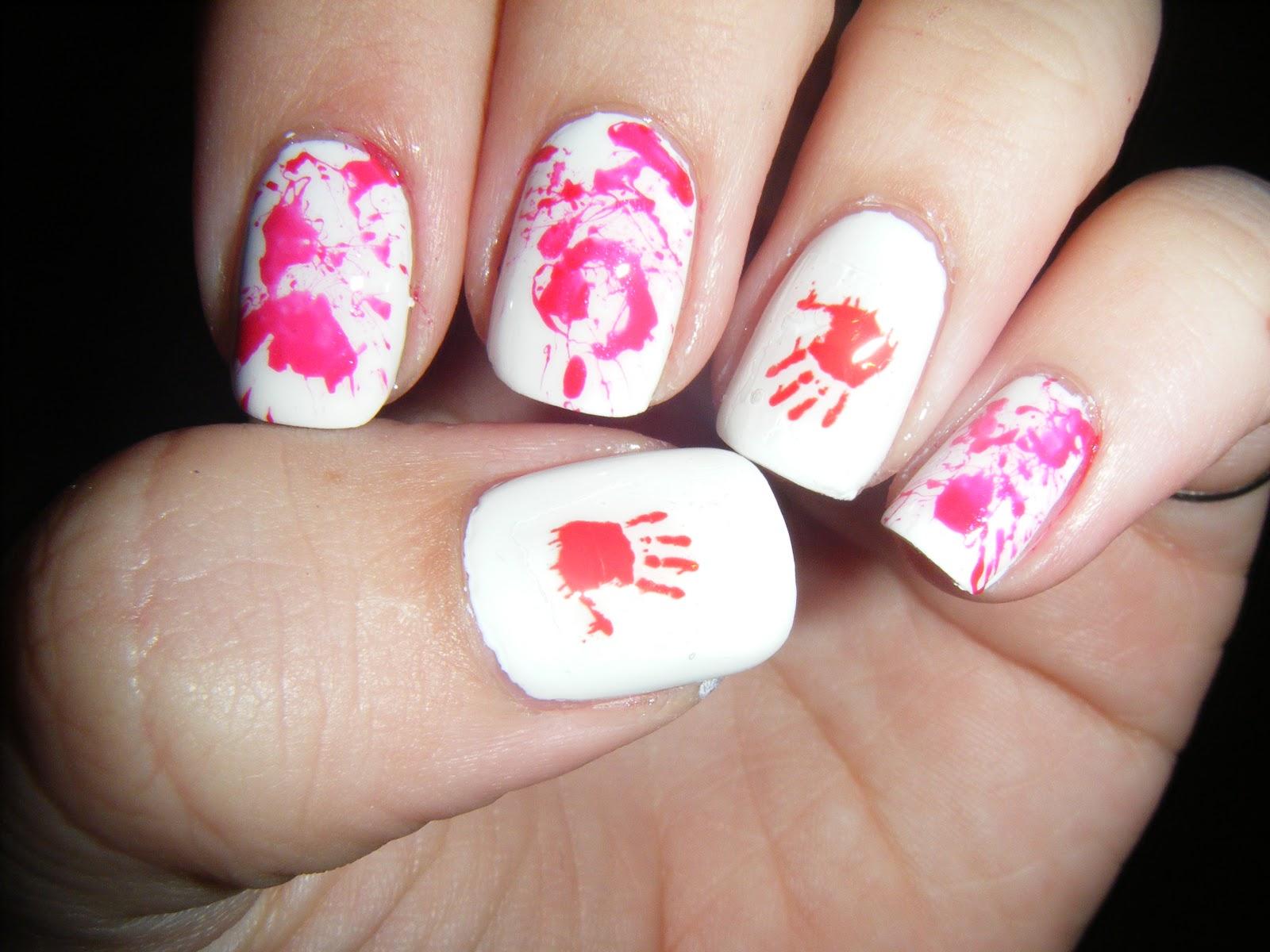 No Nekkid Nails Blood Splatter