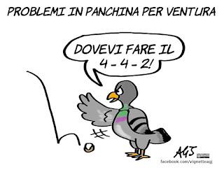 ventura, nazionale, italia svezia, eliminazione mondiale, russia 2018, sport, calcio, umorismo, vignetta