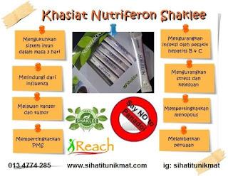 khasiat nutriferon shaklee