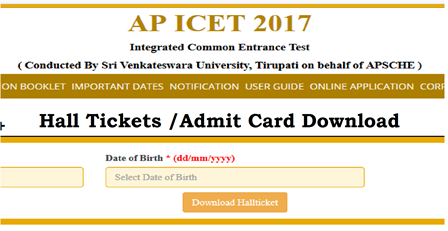 AP ICET Admit Card 2017 – Download Hall Ticket AP ICET Admit Card 2017 has been available from 28th April 2017.The Integrated Common Entrance Test (ICET) examination is a State Level examination for those who desire to pursue Master of Business administration (MBA) Master of Computer Application (MCA). AP ICET (Andhra Pradesh Integrated Common Entrance Test) 2017 is obtainable for those of candidates who wish to get admissions in Andhra University. It is directed by the Andhra Pradesh State Board, on behalf of APSCHE. The exam is conducted in the Pen and Paper mode alone./2017/04/ap-icet-admit-card-2017-download-halltickets-sche.ap.gov.in.html