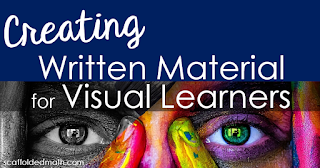 Tips for Creating Written Material that Supports Visual Learners