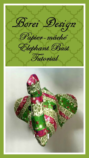 DIY Craft Tutorial: How to make an Anthropologie inspired recycled elephant wall bust