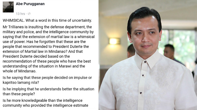 PMA Alumnus reacts on Trillanes remark: Is he more knowledgeable than the intelligence community?