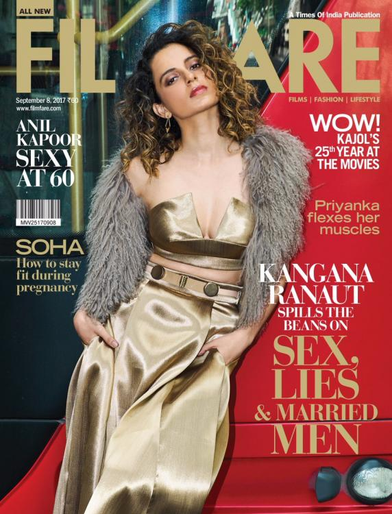 Kangana Ranaut Features on The Cover of Filmfare Magazine September Issue 2017