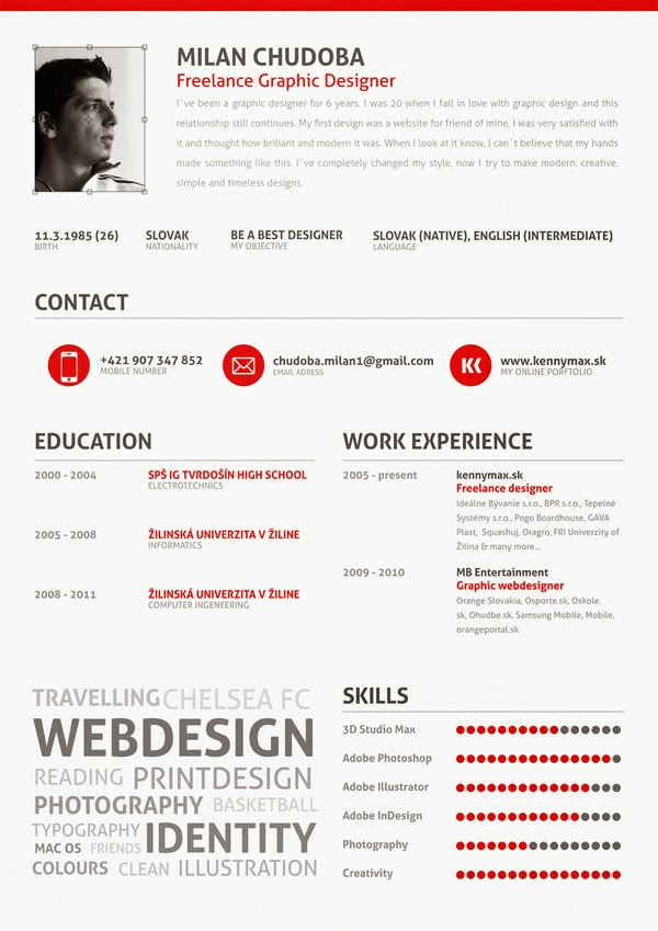 25 Examples Of Creative Graphic Design Resumes Best Resume