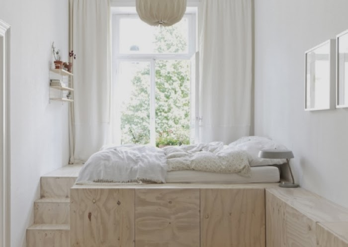built-in beds in small space