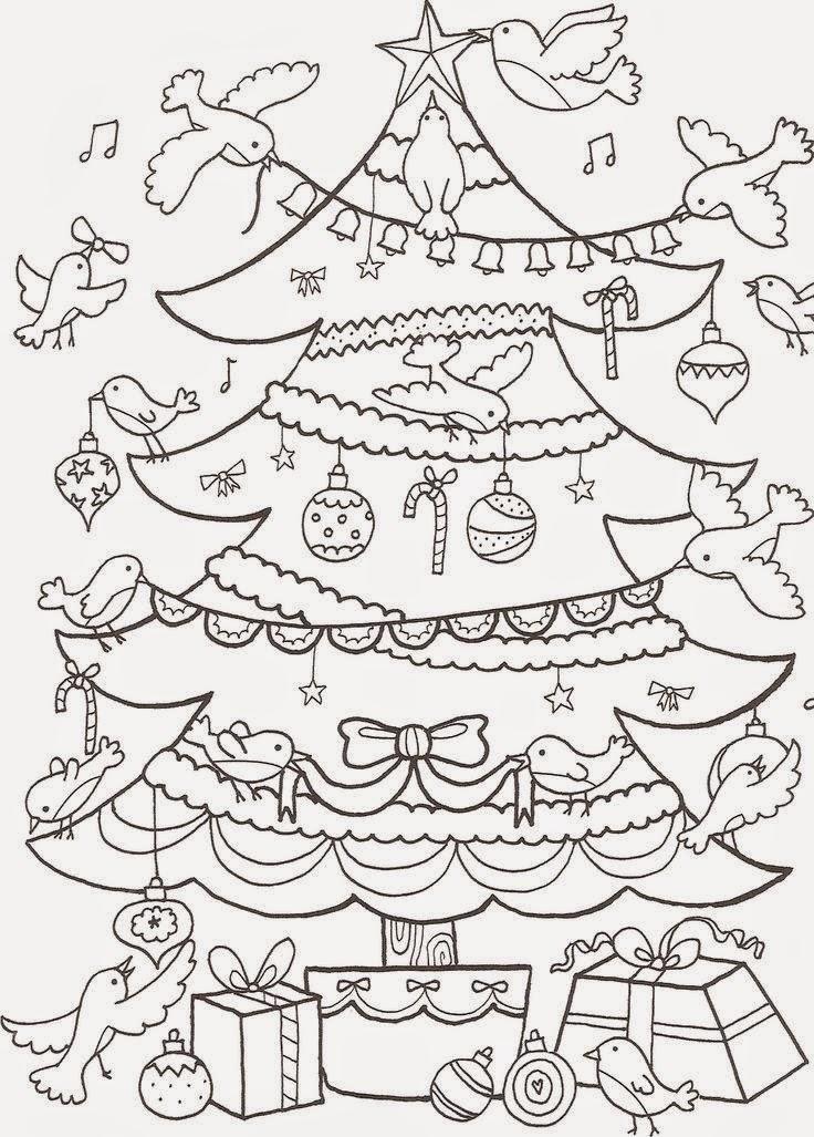 Imagens Arvores De Natal Para Colorir