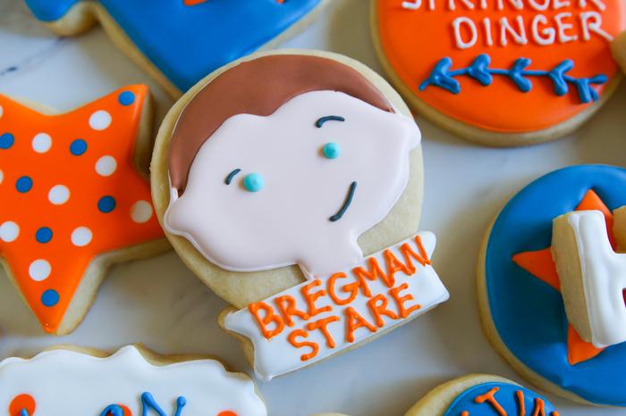 Houston Astros Cookies ♥ bakeat350.net : Bregman Stare, Dugout Stare